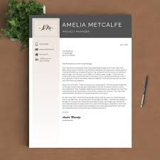 Recommended Font For Resume Creative Resume Template The Amelia U2013 Landed Design Solutions