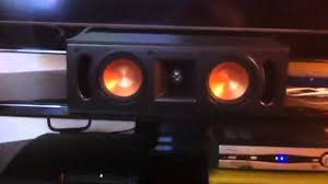 klipsch home theater systems klipsch rf 52 ii home theater system yamaha rx 473 youtube