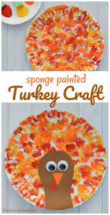 sponged painted thanksgiving turkey craft the resourceful