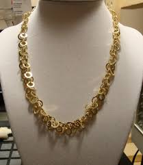 long yellow gold necklace images Yellow gold necklace with matching earrings JPG