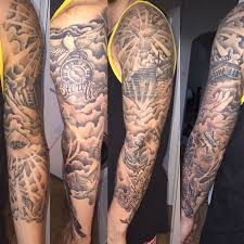25 unique cloud tattoo sleeve ideas on pinterest mens arm