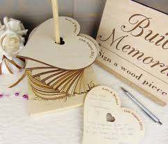 engravable wedding guest book build memories wedding guest book custom wood wedding decoration