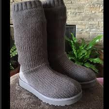 ugg boots sale secret 66 ugg shoes nwob ugg boot capra gray knit ribbed sz 9