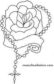 rosary drawings rose tattoo banner tattoo rosary tattoo name