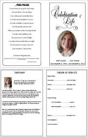 sle funeral program memorial service card template