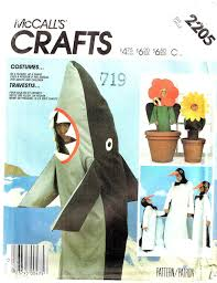Pot Halloween Costumes Shark Penguin Flower Pot Halloween Costume Sewing Pattern Mccalls