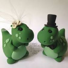 dinosaur wedding cake topper dinosaur wedding cake toppers and groom trex dressed to