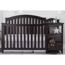 Black Crib With Changing Table Awesome Table Engaging Mini Crib Changing Table Combo Safety Prod