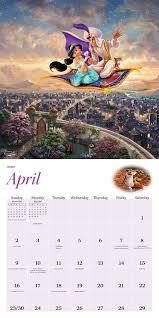 disney desk calendar 2017 thomas kinkade the disney dreams collection 2017 wall calendar