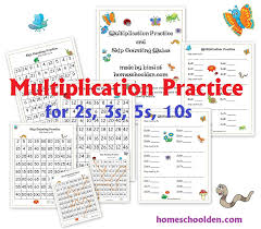 skip counting and multiplication practice 2s 3s 5s and 10s