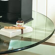 glass table tops rectangle glass table tops w beveled edge ballard designs