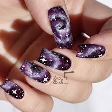 purple galaxy nails with tutorial feat zoya payton http