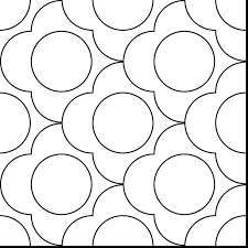terrific circle design pattern coloring page with mosaic coloring
