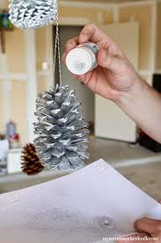Decorating Pine Cones With Glitter Diy Painted And Glittered Pinecones My Name Is Snickerdoodle