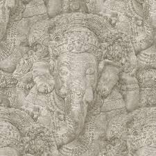 rasch stone ganesh photographic pattern wallpaper realistic faux