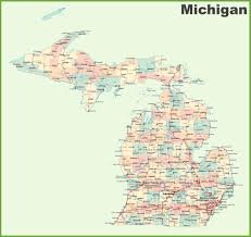 Michigan State Campus Map by Map Michigan Cities Michigan Map