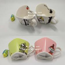 heart shaped mugs porcelain heart shaped ceramic coffee cups moomin rousseaulove