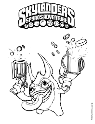 free skylander coloring pages skylanders coloring pages free