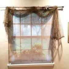 net decor fishing pole curtain rod fish net curtains fishing bedroom decor