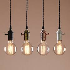 Antique Pendant Light Permo Single Socket 1 Light Mini Pendant Braided