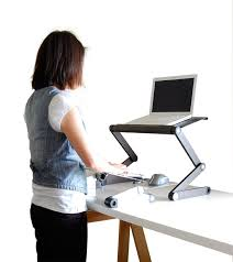Laptops Desk Workez Standing Desk Adjustable Sit Stand Desk For