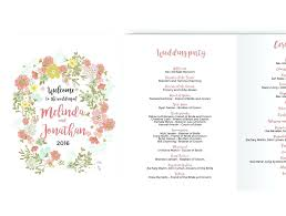 catholic wedding booklet template word wedding program template