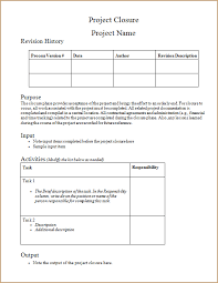 closure report template project closure report template