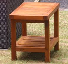 Teak Wood Shower Bench Solid Teak Spa Shower Bench With Shelf