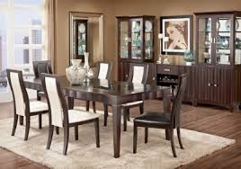 rooms to go kitchen furniture mondavi espresso 5 pc dining room w pearl chairs comprised of