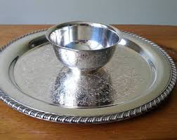 vintage butter dish silver plate with glass insert poole