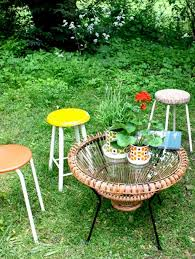 Terrace And Garden Outdoor Furniture In Small Cottage Garden