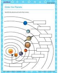 order the planets u2013 solar system worksheets for kids naturfag