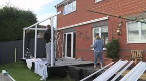 aluminium carport canopy installation demonstration youtube