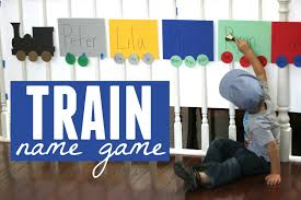 toddler approved train name matching game
