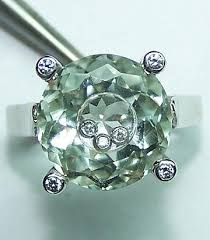 floating diamond ring diamond jewelry green amethyst with floating diamond