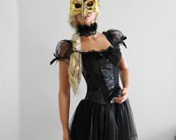 Black Gold Halloween Costumes Gold Mask Etsy