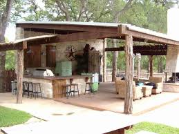 cheap outdoor kitchen ideas ranch style entertaining a rustic covered outdoor kitchen in