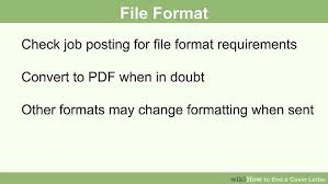 how to end a cover letter 15 steps with pictures wikihow
