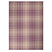 Brown Tartan Rug Contemporary Heather Purple Tartan Wool Rug Harris Kukoon
