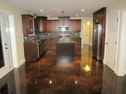 diy kitchen floor ideas stunning polished concrete kitchen floor cost how long does stain