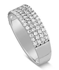 rings bands diamonds images 1 carat 4 row diamond wedding ring band for her in white gold jpg
