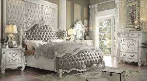 White Sleigh Bed Ac21144 4pcs Versailles Vintage Gray Bone White Sleigh Bed Sleep