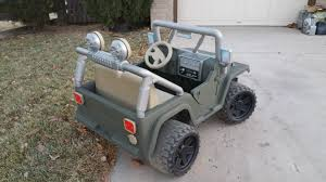 jeep power wheels for girls so i bought my son a used pink and purple barbie powerwheels for