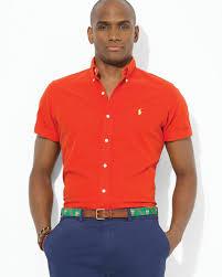 ralph lauren polo custom short sleeved oxford button down shirt