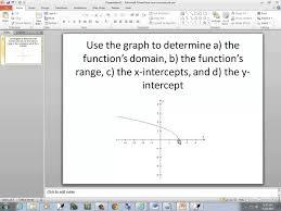 Graphing X And Y Intercepts Worksheet College Algebra Homework Function Domain Range X Intercepts Y