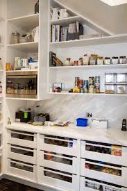 kitchen designs with walk in pantry walk in pantry organization smooth white wooden countertop sleek