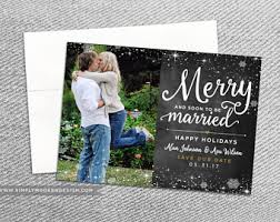 married christmas cards items similar to newlyweds christmas card merry married