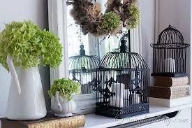 Bird Cage Decoration Romantic Fall Mantel Decoration Songbird