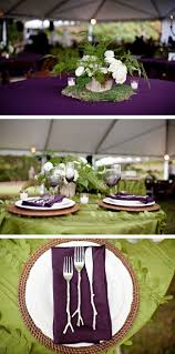 Beautiful Table Settings Green And Brown Best 25 Purple Tablecloth Ideas On Pinterest Plum Wedding Decor