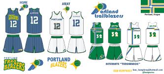 Portland City Flag Uni Watch Portland Trail Blazers Redesign Ideas